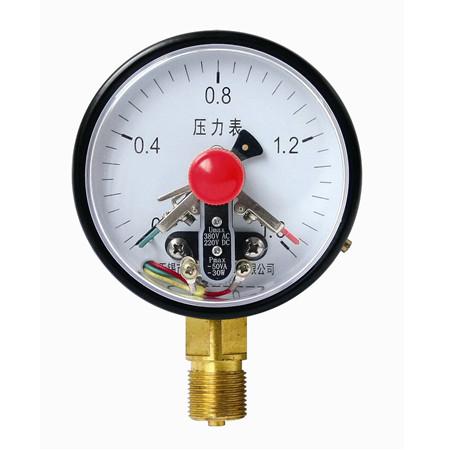 YXC-100径向普通电接点压力表