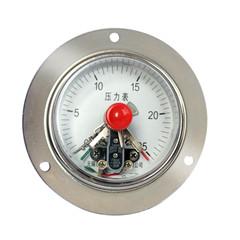 YXC-100轴向带边普通电接点压力表