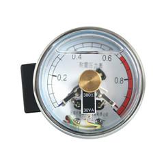 YXC-60-ZⅡ轴向无边耐震电接点压力表